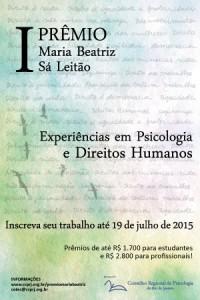 CRP-RJ lança Prêmio Maria Beatriz Sá Leitão