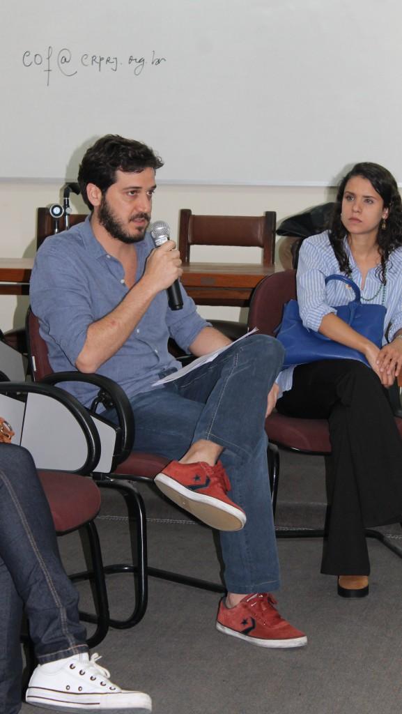Thiago Melicio dá início ao evento na sede do CRP-RJ